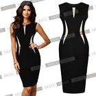 Womens Formal Knee Evening Party Business Bodycon Pencil Party Dresses