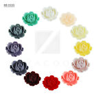 4/12pcs New Resin Lucite Cabochon Peony Flower Flatbacks Fit Settings 19x17mm
