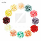 3/12pcs Hot Resin Lucite Vintage Style Rose Flower Cabochon Cameo 21x21x9.5mm