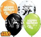 STAR WARS 'HAPPY BIRTHDAY' BALLOONS -Choose quantity CHILDRENS PARTY DECORATIONS