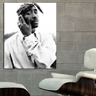 Tupac 2Pac Rap Hip Hop Poster Wall Mural Print on Paper, Adhesive Vinyl, Canvas