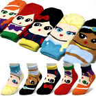 Princess Friends Cozy Warm Sleeping Socks Women Girls Fuzzy Soft Cartoon Socks