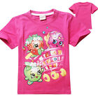 Children Kids Girls Cartoon Beautiful Tops Clothes Shopkins T-Shirts