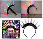 NEW LIGHT UP SPIKE MOHAWK / PRINCESS  headband lightup flashing hat PARTY item