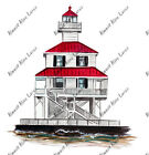 NEW ORLEANS CANAL BASIN LIGHTHOUSE NAUTICAL DECAL STICKER CHROMEBOOK LG PRINTER