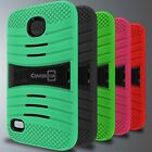 For Huawei Union Case - Hybrid Heavy Duty Tough Protective Phone Kickstand Cover