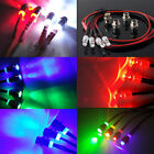 4pc Night 5mm headlamps headlights LED light for RC Model 1:10 On-Road Drift Car
