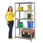 Garage Shelving Storeroom Steel Storage Bays 175kg UDL 5 Levels Grey BiGDUG