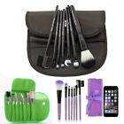 Pro 7Pcs Novelty Makeup Brush Set Classic Cosmetic Tool Leopard Bag Brushes Gift