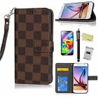 Luxury-Vintage-Leather-Flip-Case-Wallet-Cover-Stand-For-samsung galaxy note 4 5