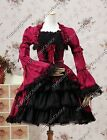Victorian Princess Dress Lolita Steampunk Punk Cosplay Gown Theater Clothing 233