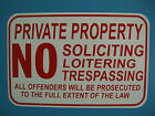 Posted Private Property No Trespassing Hunting Fishing Trapping 12X18 Metal Sign