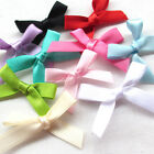 Upick 10/50/100/500PCS Satin Ribbon Flowers Bows Appliques Wedding Deco Mix A469