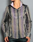 JIMI HENDRIX LONG SLEEVE DRESS SHIRT FRAYED SEAMS PURPLE S-L