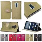 For LG G Stylo LS770 Shiny Leather Bling Flip Wallet Cover Case
