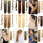 """24"""" 100g Straight Velcro Ponytail Clip In Hair Extensions Hairpiece Mixed Color"""