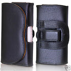 sony mobile xperia j - Universal Leather Belt Loop Pouch Holster Case For Mobile Phone iPhone Galaxy