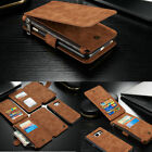 Genuine Leather Wallet Zipper Card Case Cover For Samsung Galaxy S6 Edge+ Note 5