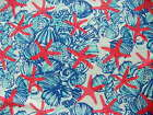 "8"", 10"", 11"", 12"" Lilly Pulitzer She She Shells Jumbo Pique Fabric Large Scale"