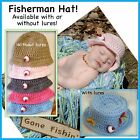 Fisherman hat 0-3 Month 3-6 Month, Preemie, Photo Prop, Baby