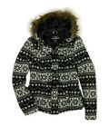 Ecko Unltd. Womens Fairisle Fur Duffel Fleece Jacket