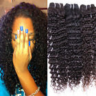 3 bundles Brazilian Remy Deep Wave Curly  Human Hair Extension 150g Black 1b