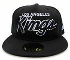 LA Kings Black On Black All Sizes Fitted Cap Hat by New Era