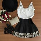 Sexy Women Clothing Summer Evening Party Strapless Lace Floral Short Mini Dress