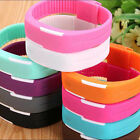 Mens Womens Sports Digital Silicone Rubber LED Waterproof Bracelet Wrist Watch image