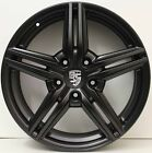 19 inch GENUINE PORSCHE CAYENNE 2014 MODEL ALLOY WHEELS IN CUSTOM BLACK