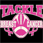 Tackle Breast Cancer Football T-Shirt Pink Awareness October Month