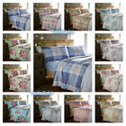 100% Brushed Cotton Flannelette Sheets, Fitted / Flat & Complete Bedding Sets