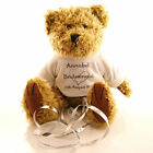 18cm Personalised Wedding Favour Flower Girl Teddy Bear Great Gift