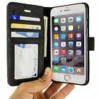 RFID Blocking Wallet Case Cover for i6 i6S iPhone 6 & 6S Phone, Black