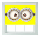 Minions eyes 3D Roller Blind childrens bedroom kitchen lounge custom rollo