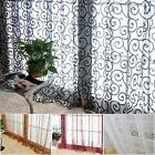 Hot Sell Floral Tulle Voile Door Window Curtain Drape Panel Sheer Scarf Valances