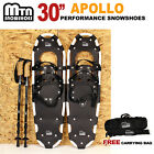 "New MTN WHITE All Terrain 30"" Snowshoes + GOLD Nordic Pole + Free Carrying Bag"