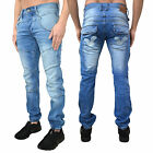 Mens Voi Jeans Cuffed Denim Designer Branded Pants Trousers Jogger Regular Fit