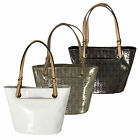 Michael Kors Handbag Purse Jet Set Item Metallic Tote 38t4xttt2i Bag New Nwt