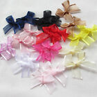 New 60/300PCS Organza Ribbon Flowers Bows Wedding Craft Appliques Deco Mix A492