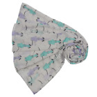 NEW Sitting Greyhound Dog Print Scarf Wrap in Choice of 4 Colours  Latest Design