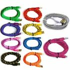 3/6/10FT Braided Lightning Sync Data Cable USB Charger for iphone  5S 6 6s Plus