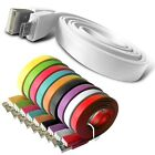 MICRO USB DATA CABLE FLAT NOODLE CHARGER WHITE FOR VARIOUS MOBILE PHONES