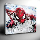 SPIDERMAN paint splatter CANVAS Wall Art Picture *many sizes available!