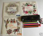 Colour Therapy Adult Colouring Book Anti Stress Relaxing & Pencils & Pencil case