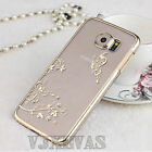 Cute Luxury Glitter Crystal Transparent Hard Back Case Cover For Sumsung Galaxy