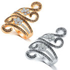 Women's Antique Fashion Zircon Geometric Ring Party Bague Cool Jewelry Classic