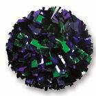 "00062BA One (1) Cheerleading Pom Poms, 6"" 3-Color Mix Metallic"