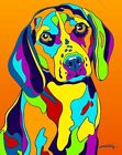 Made in USA Multi-Color Beagle Dog Breed Matted Print Wall Decor