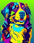 Made in USA Multi-Color Bernese Mountain Dog Breed Matted Print Wall Decor